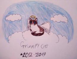 Rest in Peace Grumpy Cat by adelita03