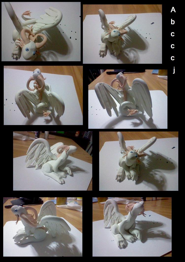 Clay angel dragon by abcccj