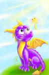 Spyro and Sparx by KayzKraze