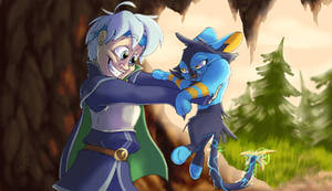 Schezo and Luxio - Art Trade with Cl4usy