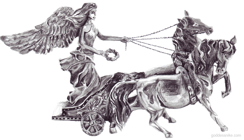 Goddess Nike On Chariot By Nikethegoddess DeviantArt 800x460 · Nike Goddess  Of Victory By Corinotec ...