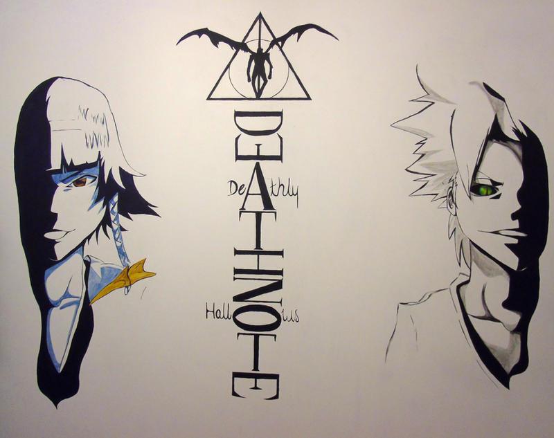 Anime Wall Art wall art, bleach anime, death note, harry potterblank98 on