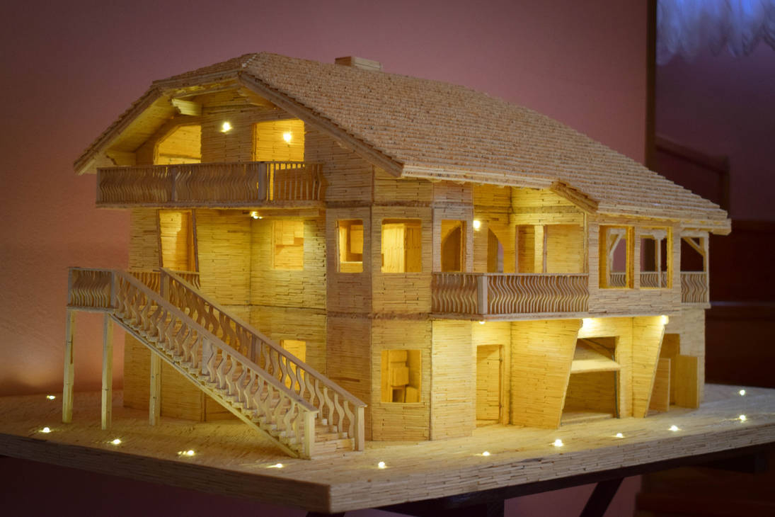 House made out of matches by matcheslv