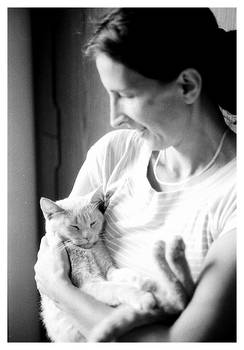 My mother and my cat