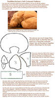 Felt Croissant Plush Patterns by thislittlechicken