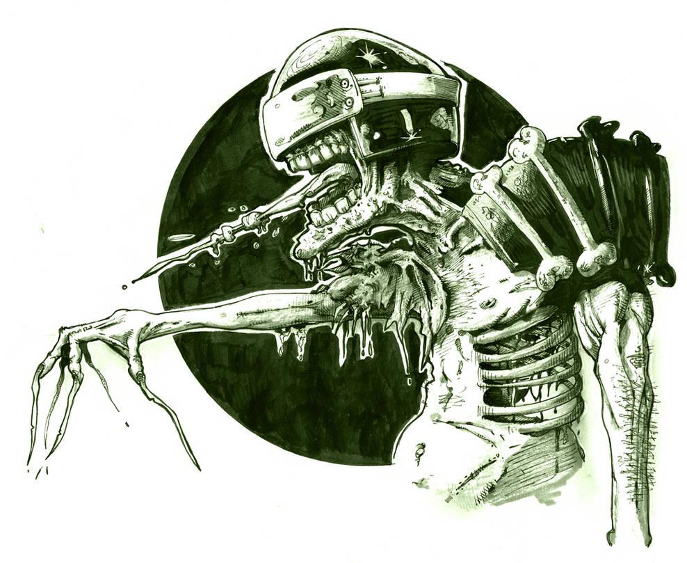 Judge Death inks.