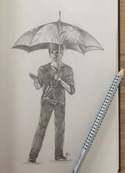 Sketch - Umbrella by Aenwynn