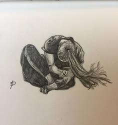 Figure drawing - motion by Aenwynn