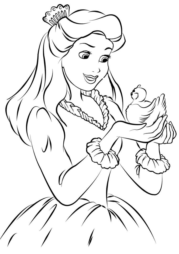 Line Drawing Pictures : Gift princess lineart by marinamaral on deviantart