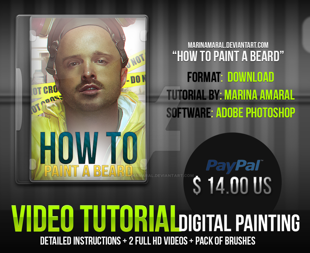 DIGITAL PAINTING TUTORIAL - HOW TO PAINT A BEARD by marinamaral