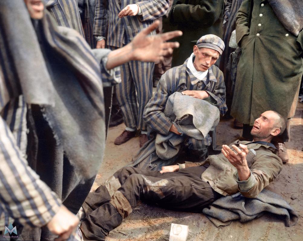 Inmates at Wobbelin concentration camp. by marinamaral