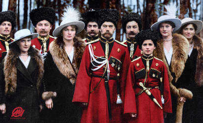 Tsar Nicholas II of Russia and his children by marinamaral