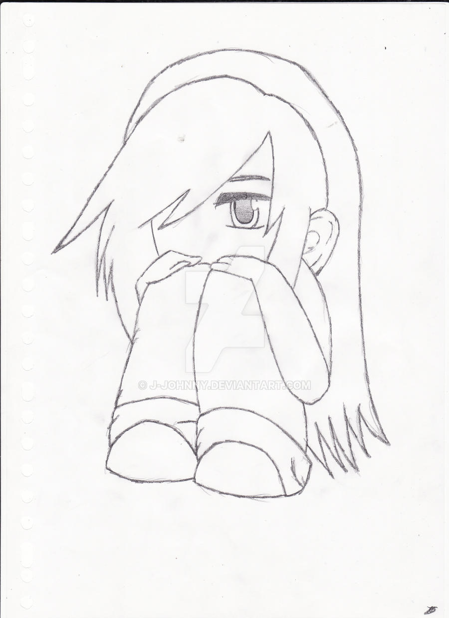 ... Little Chibi Emo Girl by J-Johnny