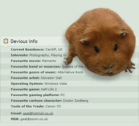 Deviant ID - Dozy the Guinea by Geater