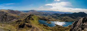 Panoramic view of Snowdonia