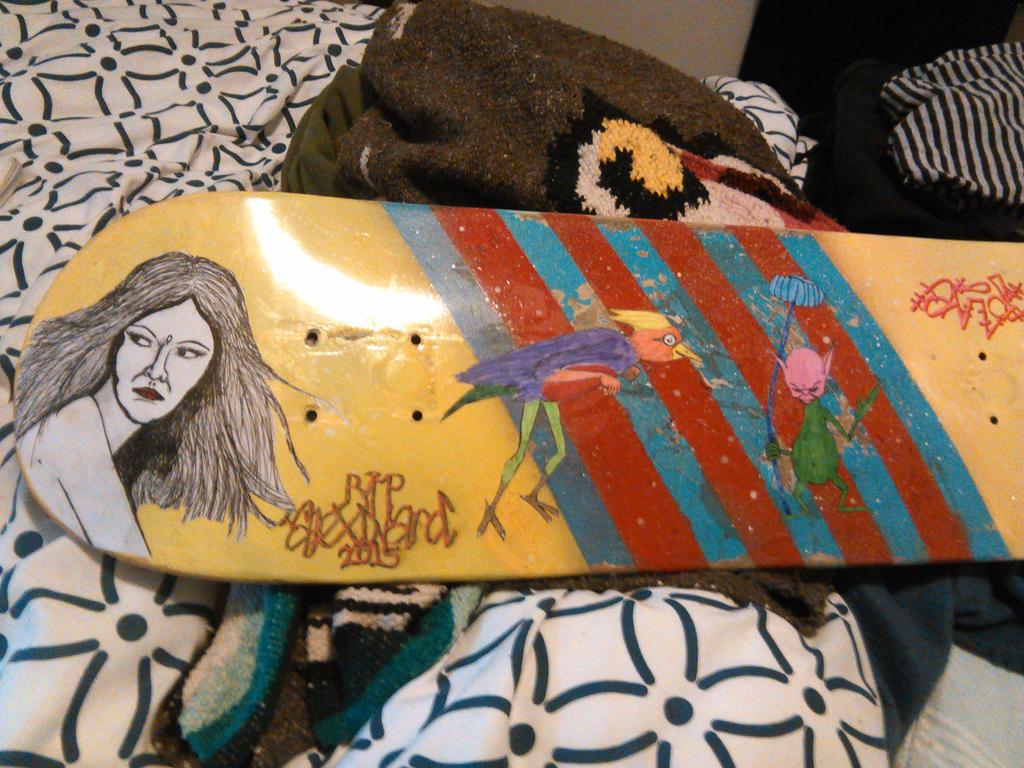 Alex Memorial Skateboard by damien-christian