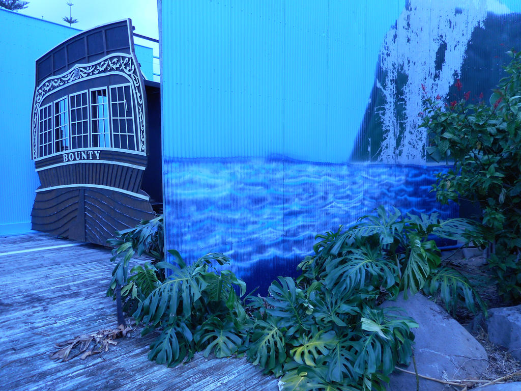 Tahiti ocean scene by damien-christian