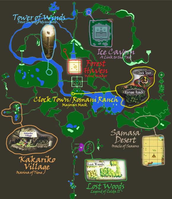 Legend of Zelda Disruption in Tyme World Map by MidevalExponents2sqr on Devi