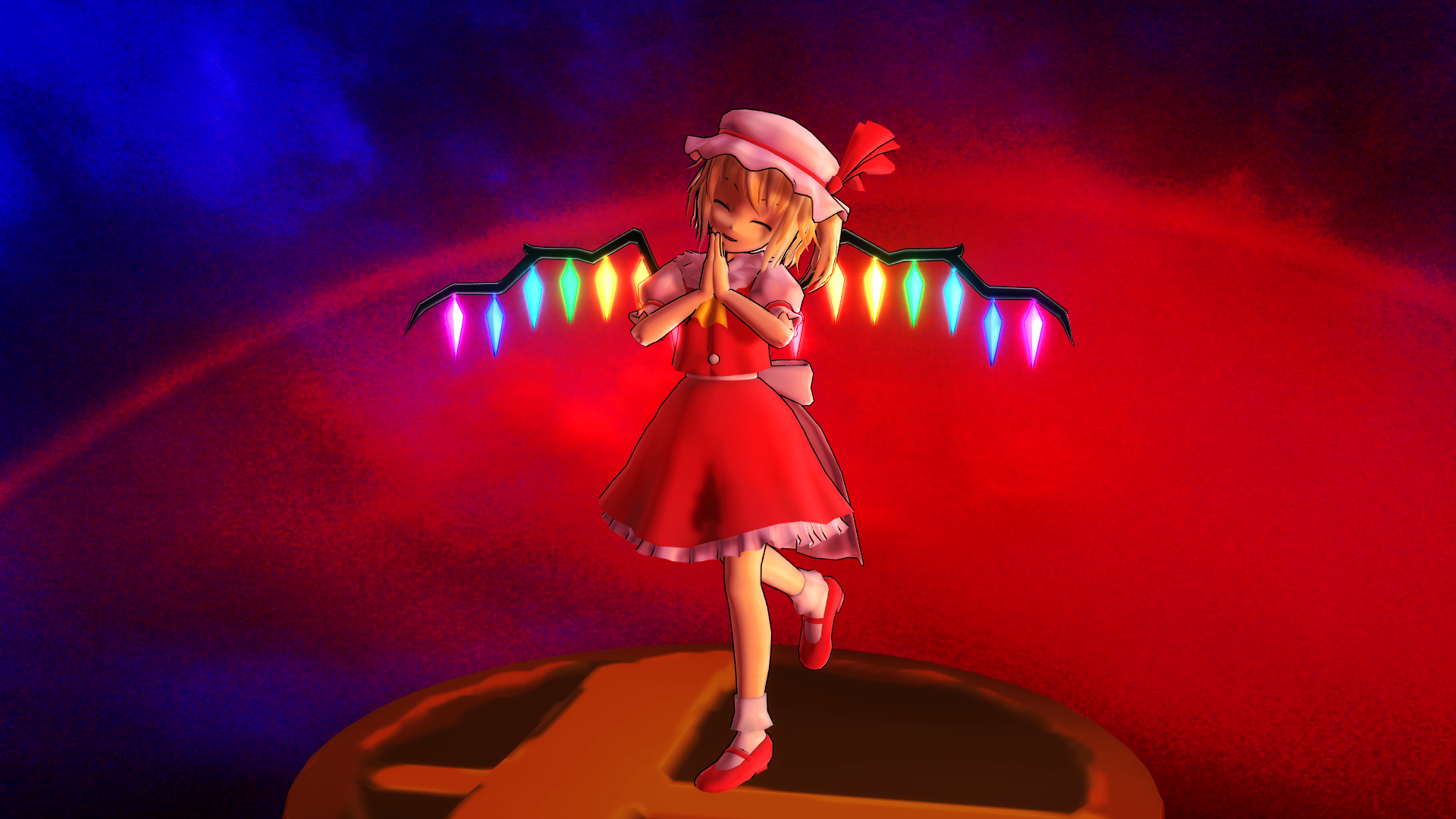 Smash Bros Trophy Flandre 1920x1080 by headstert