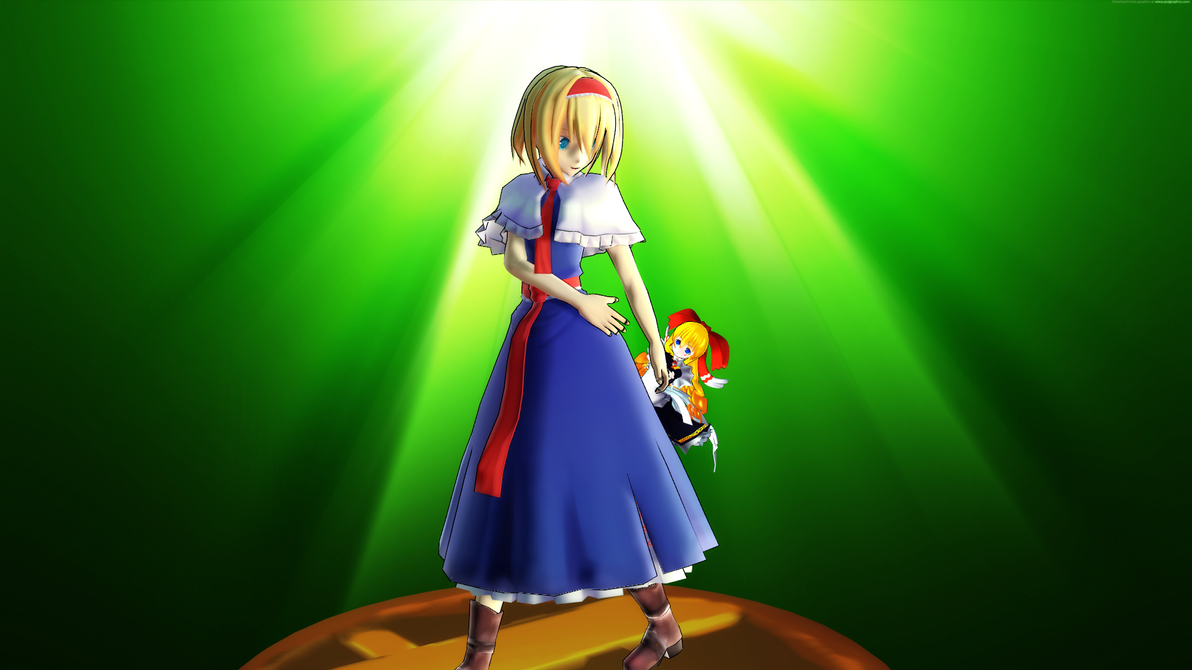 Smash Bros Trophy Alice Margatroid 1920x1080 by headstert