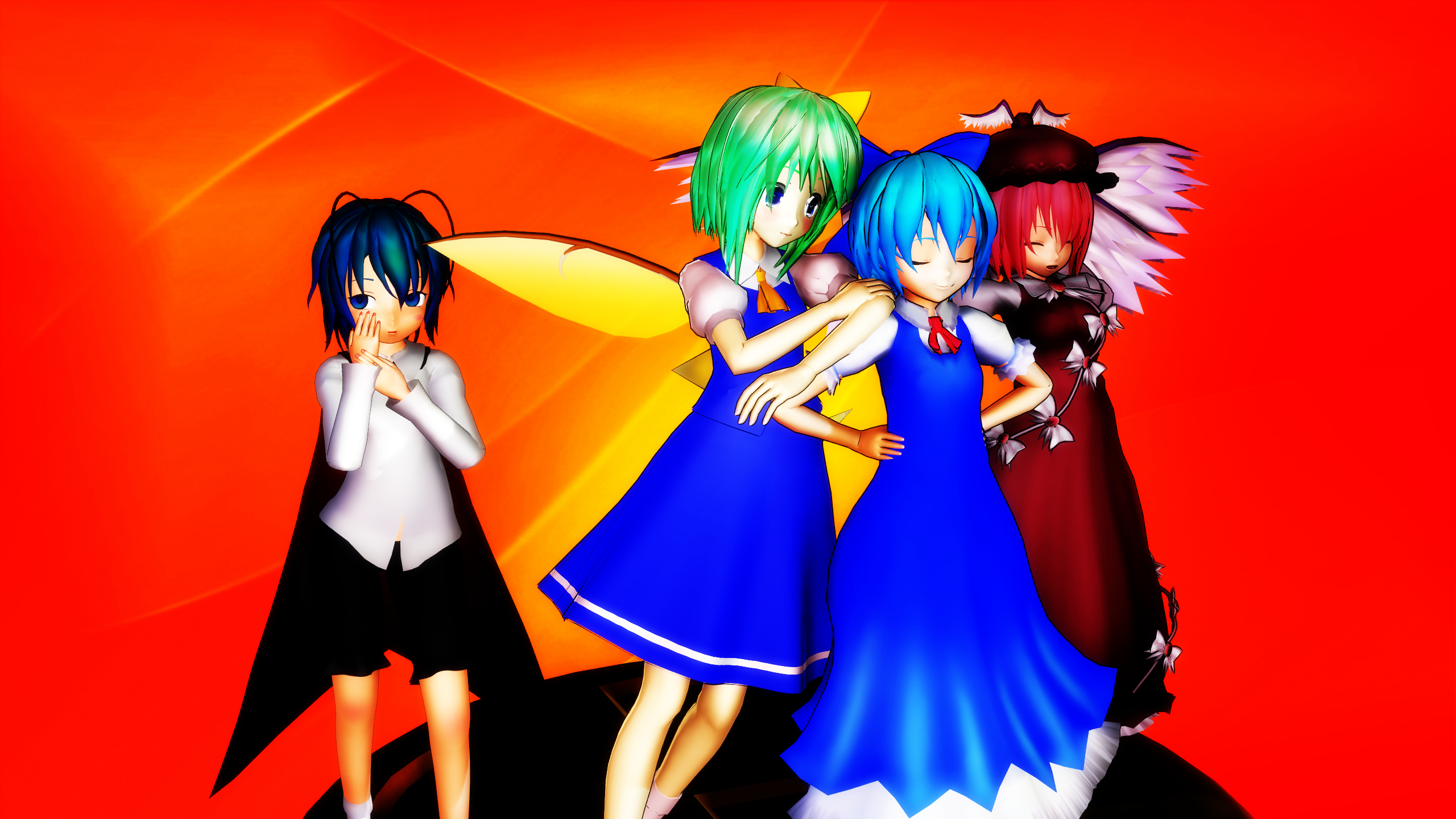 Smash Bros Trophy Team 9 2560x1440 by headstert