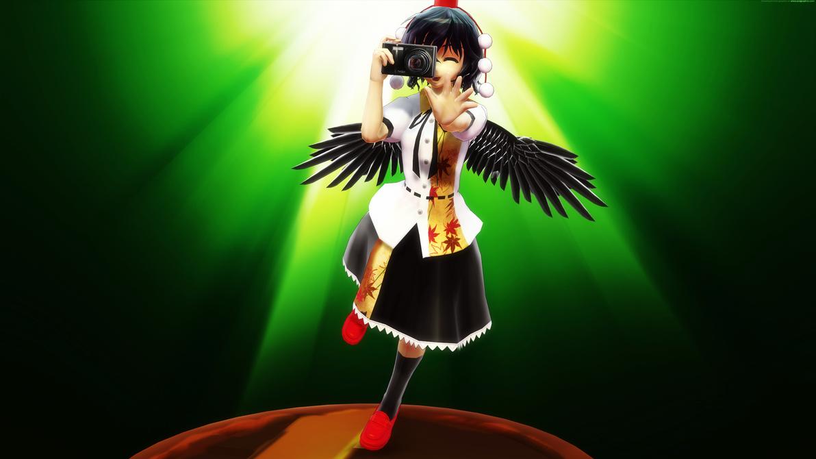 Smash Bros Trophy Aya Shameimaru 2560x1440 by headstert