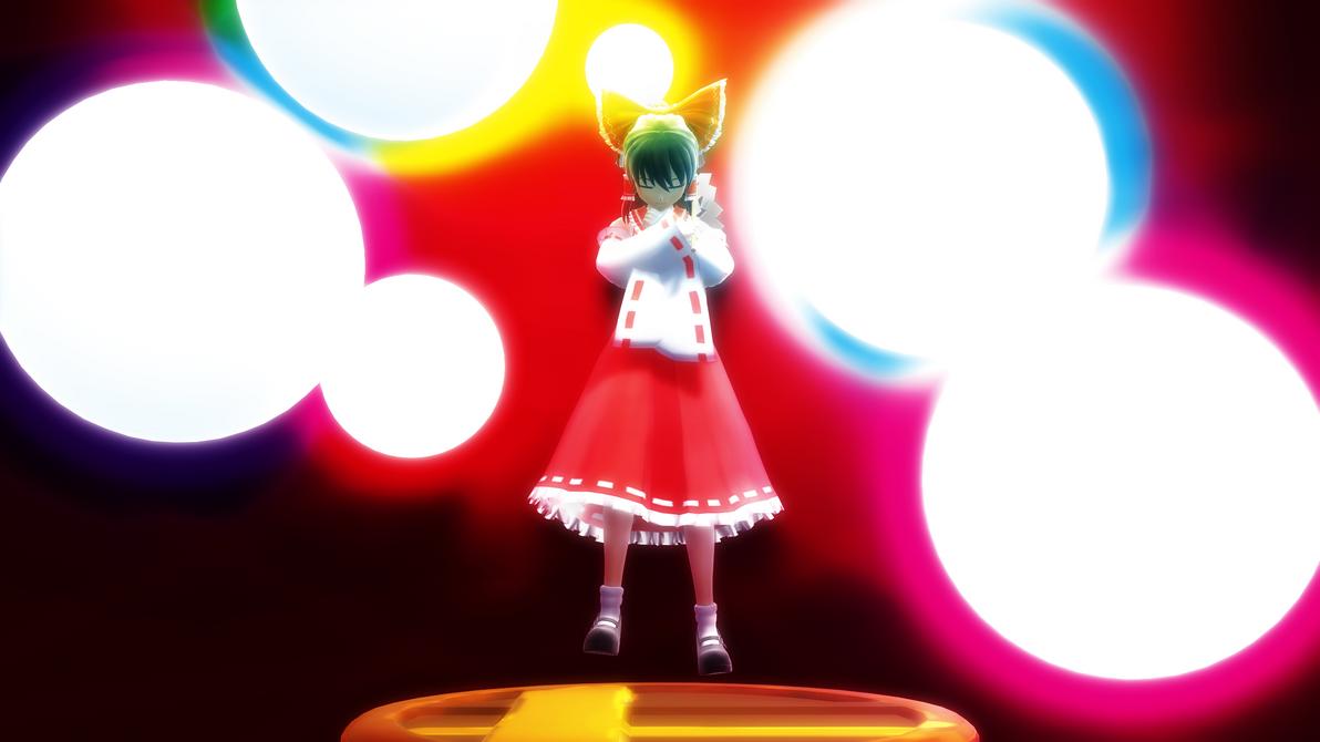 Smash Bros Trophy Reimu Hakurei 2560x1440 by headstert