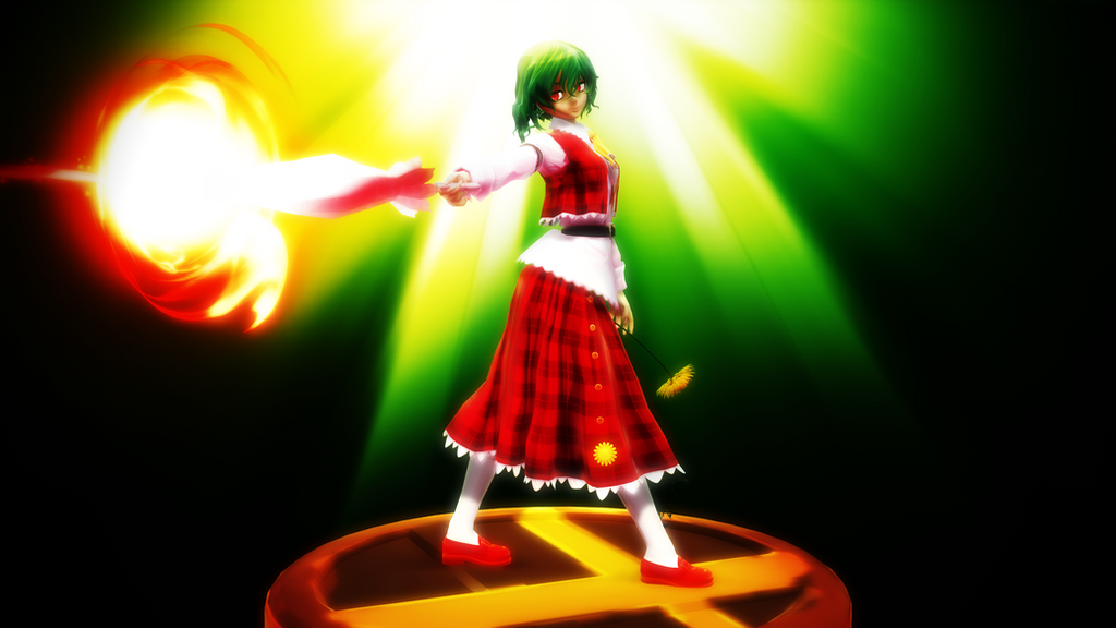 Smash Bros Trophy Yuuka Kazami 2560x1440 by headstert