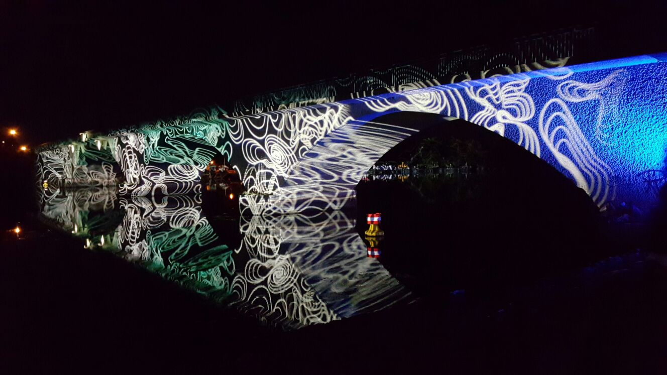 Schwedt/Oder Bridge lighting by headstert