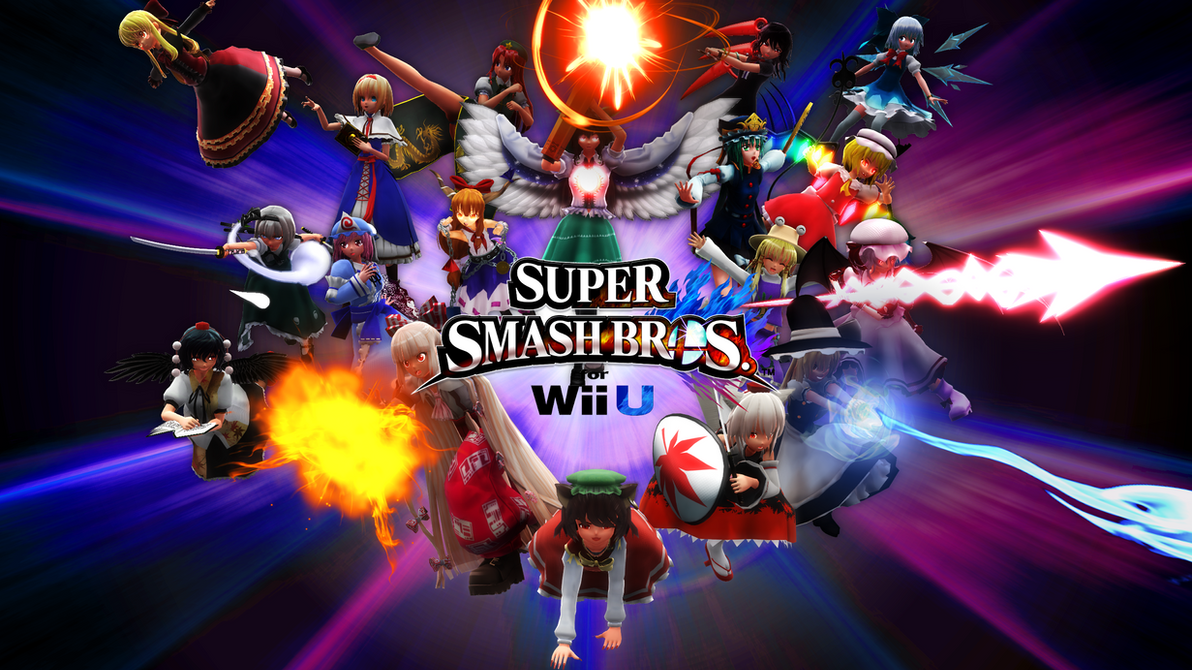 MMD Touhou Smash Bros 4 Title Ver.1 by headstert