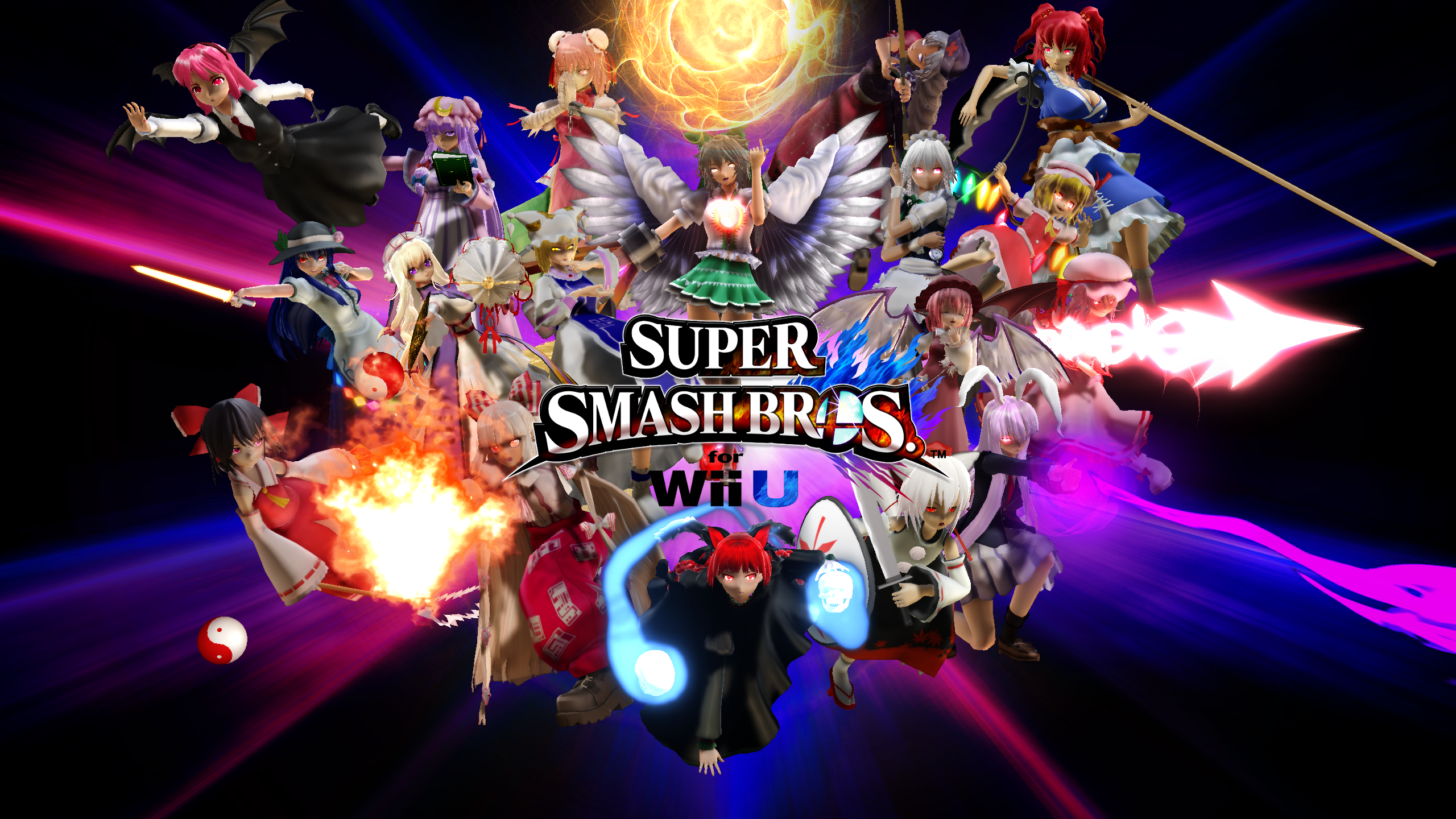 MMD Touhou Smash Bros 4 Title Ver.2 by headstert