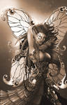 Metalynne the Steampunk Fairy (sepia)