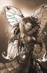 Metalynne the Steampunk Fairy (sepia)