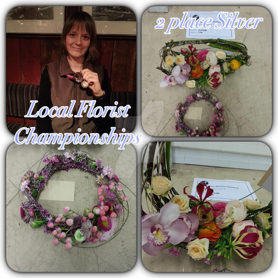 2 place local Florist championships by Etsuko-Hime