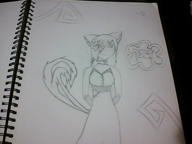 cat emo scene girl by darkwater9990