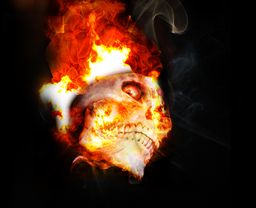 Skull On Fire By FabulousMikey On DeviantArt