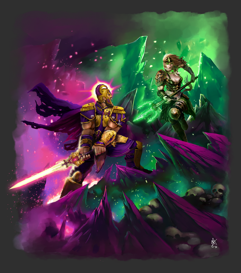 Sky Kingdoms: Order Versus Chaos by NickBarfuss