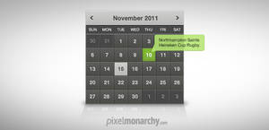 Clean Dark Calendar Widget by vesthar