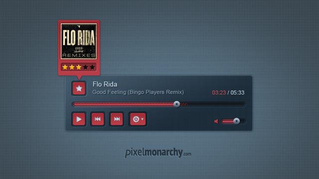 Stylish Music Player  PSD