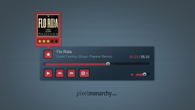 Stylish Music Player  PSD by vesthar