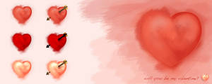 Hand Draw Valentine Heart Icons