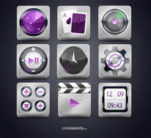 Shine Steel App Style Icons - Free PSD File by vesthar