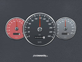 Car Speedometer Free PSD by vesthar