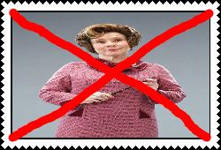 Anti Dolores Umbridge Stamp by Carriejokerbates