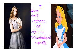 I Love Both Alice In Wonderlands Equally Stamp by Carriejokerbates