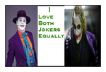 I Love Both Jokers Equally Stamp