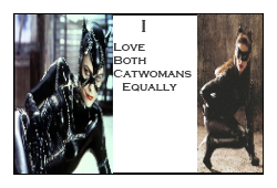 I Love Both Catwomans Equally Stamp by Carriejokerbates