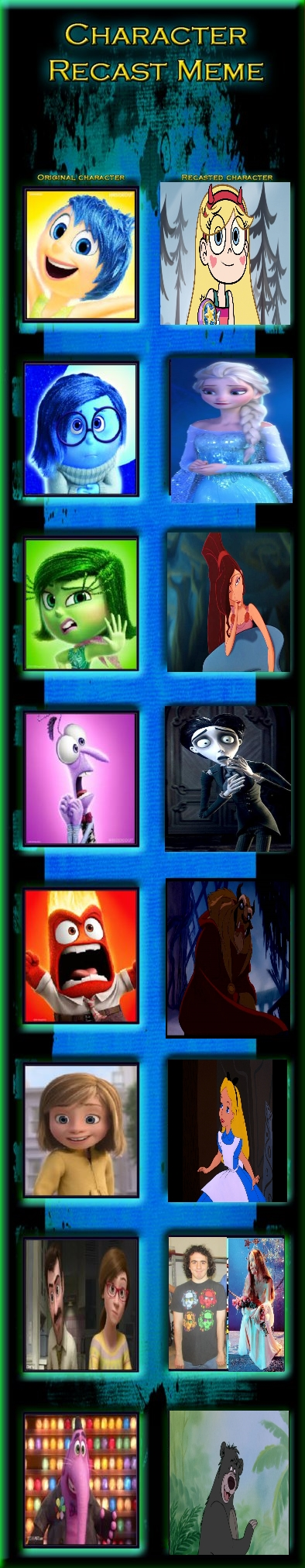 My Cast for Inside Out by Carriejokerbates