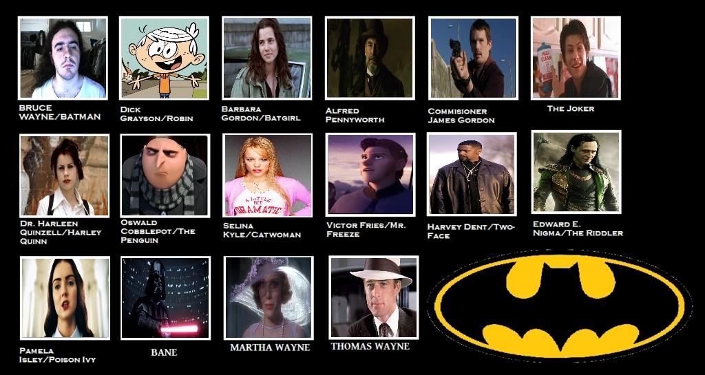 My Batman Movie Fancast Meme by Carriejokerbates