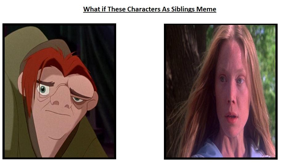 Quasimodo x Carrie Siblings Meme by Carriejokerbates